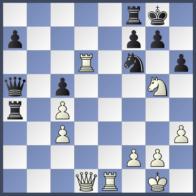 Lutz gegen Michael Wegner kann 24. Txf6 spielen...